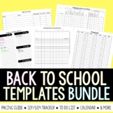 Back to School Templates Bundle