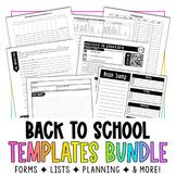 Back to School Templates Bundle #teachergramsecondary