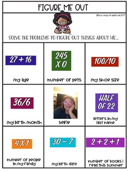 Back to School Templates for Pic Collage-Getting to Know You Activities