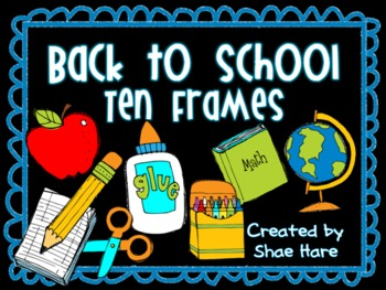 {Back to School} Ten Frame Clip Art {August} 0-10 Common Core Math Aid