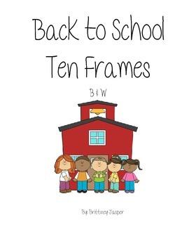 Back to School Ten Frames BW