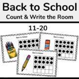 Back to School Ten Frames, Count the Room 11-20 Math Activity