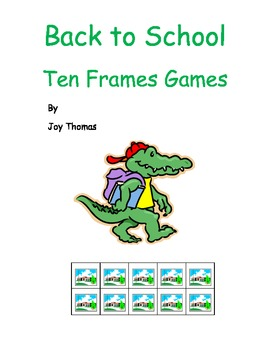 Back to School Ten Frames Games