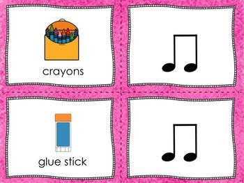 Back to School - Text to Rhythm Matching Ta and Ti-Ti
