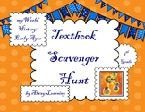 """Back to School Textbook Scavenger Hunt: """"myWorld History Early Ages"""""""
