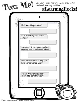 Back to School Texting!