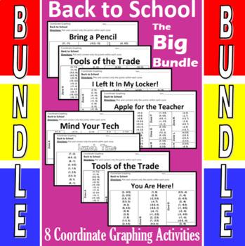 Back to School - The Big Bundle - 8 Coordinate Graphing Activities