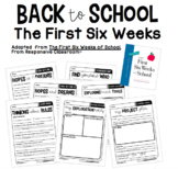 First Six Weeks Worksheets and Activities   Back to School