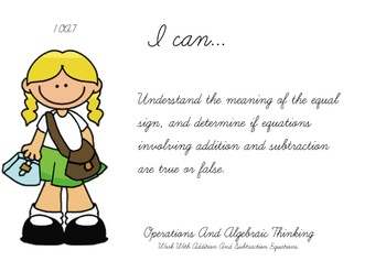 Back to School Theme 1st grade math Common Core Posters first Grade Standards