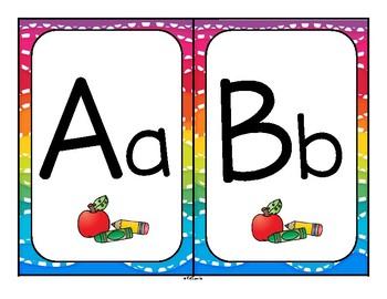 Back to School Theme Alphabet Posters