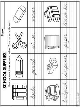 Back to School Theme Based Handwriting Lessons (Cursive Edition)