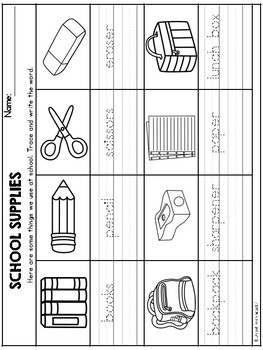 Back to School Theme Based Handwriting Lessons (Manuscript Edition)