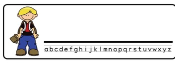 Back to School Theme Desk Nameplates (Set of Four)