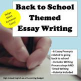 Back to School Theme Essay Writing, w Rubrics & Printables