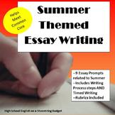 Summer Themed Essay Writing, w Rubrics & Printables