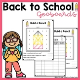 Back to School Theme Geoboard Task Cards