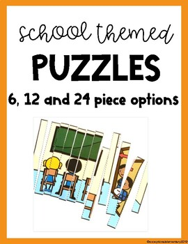 Back to School Theme Puzzles