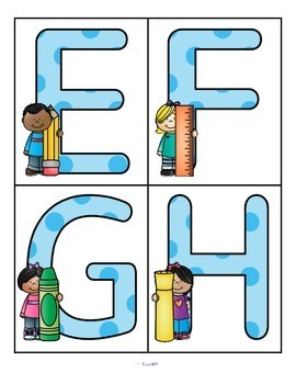 Back to School - Large Alphabet Letters - FREE