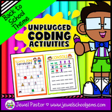 Back to School Unplugged Coding Activities