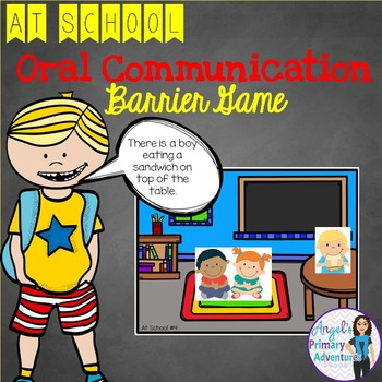 Back to School Themed Barrier Game for Oral Communication