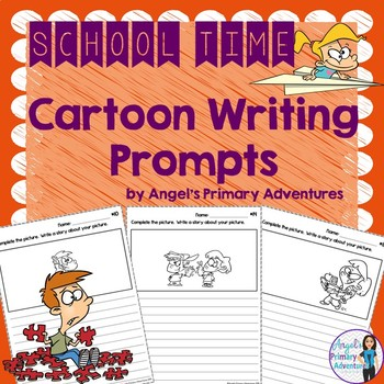 Back to School Themed Cartoon Writing Prompts