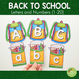 Back to School Themed Letters and Number Cards