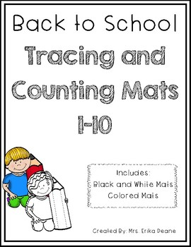 Back to School Themed Number Sense Counting Mats