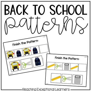 Back to School Themed Patterns for Special Education