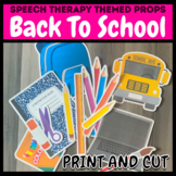 Back to School Themed Pictures for Speech Therapy or Virtu