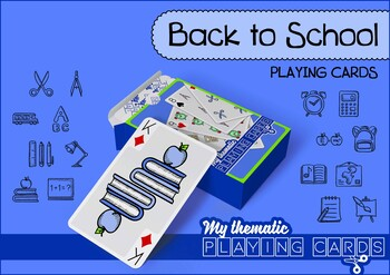 Back to School Themed Playing Cards Deck