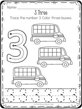 Preschool Worksheets-Back to School