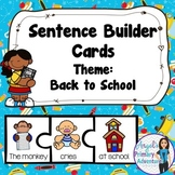 Back to School Themed Sentence Building Cards