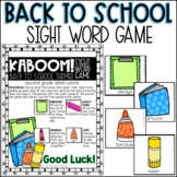 Back to School Themed Sight Word Game