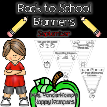 Back to School Themed Writing Banners