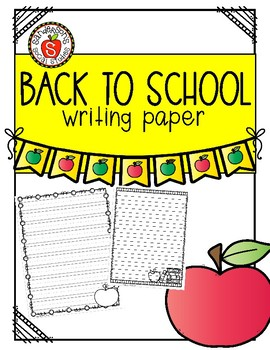 Back to School Themed Writing Paper