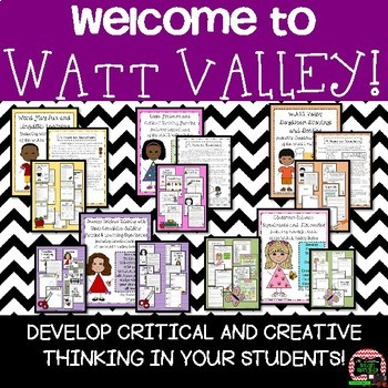 STEM STEAM Thinking Activities and More (W.A.T.T. Valley Back to School Bundle)