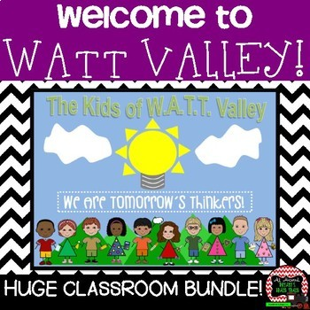 Bell Ringers, STEAM Activities, and More (W.A.T.T. Valley Back to School Bundle)