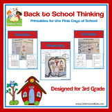 Back to School Activities for 3rd Grade