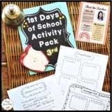 Back to School 3rd Grade First Day of School Activities Third