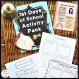 First Day of School Activities 3rd Grade ⭐