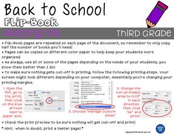 Back to School - Third Grade - Flip-Book