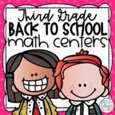 Back to School Third Grade Math Centers