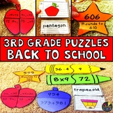 Back to School Third Grade Math Puzzles