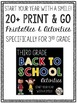 Back to School Third Grade Printables and Activities