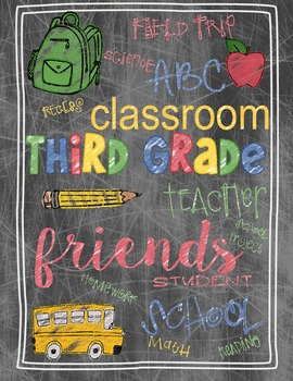 Back to School Third Grade Teacher's Gift