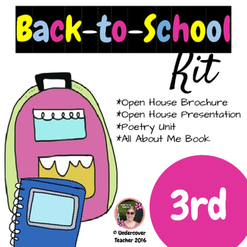 Back to School Third grade (3rd) Kit {Brochure, Presentati