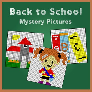 Back to School Three Digit Addition Mystery Pictures