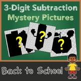 Math Mystery Pictures Back To School Subtraction Color-By-Number Sheets