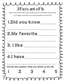 Back to School: Three Facts and a Fib