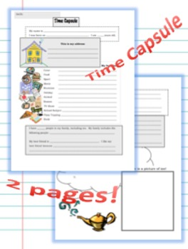 Back to School Time Capsule - 2 pages